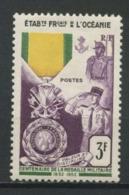 OCEANIE 1952 N° 202 * Trace De Charnière Neuf MH TTB C 11 € Centenaire De La Médaille Militaire - Neufs