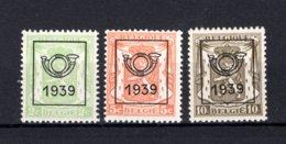 PRE417/419 MNH** 1939 - Klein Staatswapen Opdruk Type C - REEKS 15 - Precancels