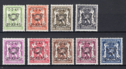 PRE455/463 MNH** 1941 - Klein Staatswapen Opdruk Type D - REEKS 20 - Precancels