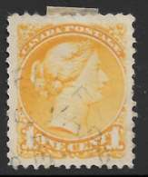 Yvert 28a Michel 26cA - 1 C Dentelé 12 Jaune Orange  - O - Used Stamps