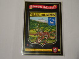 Blason écusson Adhésif Autocollant Sticker Coat Of Arms; Aufkleber Wappen Escudo Adhesivo Villes Sur Auzon - Obj. 'Remember Of'
