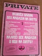 "EROTIC-PORNO MAGAZINE  ""PRIVATE"" A BERT MILTON, FROM 1998 YUGOSLAVIAN EDITION - Boeken, Tijdschriften, Stripverhalen"