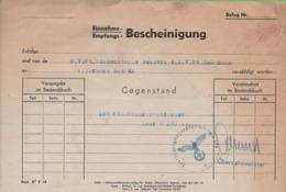 Certificat De Transport De Choucroute Période 1940-45 - 1939-45