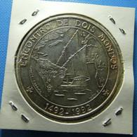 Portugal 1000 Escudos 1992 Silver Encontro De Dois Mundos - Portugal