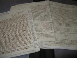 LOT DE 11 LETTRES AUTOGRAPHES SIGNEES DE PINOT DES ESSARTS 1812-17 CAPITAINE LOUVETERIE VENDEE Affaires Financières - Autógrafos