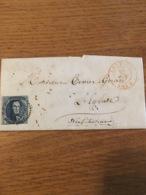 Lettre Pr Neufchateau 1852 + Cachet Verso - Belgium