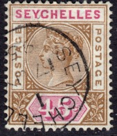 Seychelles 1893 45c SG25 - Used (fault) Superior Space Filler - Seychelles (...-1976)