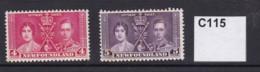 Newfoundland 1937 Coronation 4c And 5c (MM) - Newfoundland