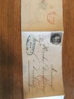 Lettre De Huy Pour Durbuy 1857 - Belgium