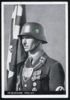 AK/CP Reichsparteitag  SS Stumbannführer Grimminger Blutfahne Propaganda Nazi Gel/circ.1936 Erhaltung/Cond. 2- Nr. 00902 - Weltkrieg 1939-45