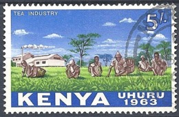 Kenya, 1963 Tea Industry, 5sh # S.G. 12 - Michel 12 - Scott 12  USED - Kenya (1963-...)
