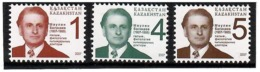 Kazakhstan 2007 . Definitives. Maulen  Balakayev. 3v: 1, 4, 5.  Michel # 585-87 - Kazakhstan