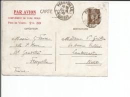 Tunisie France, Entier Postal Pétain 80c + Par Avion 2fr30, Ferryville Tunisie - Lambersart FR (23.6.42) Endommagée Plis - Postal Stamped Stationery