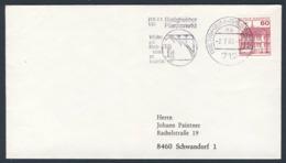 Deutschland Germany 1980 Brief Cover - Enzviadukt -  Eisenbahnviadukt - Bietigheimer Pferdemarkt / Railway Viaduct - Treinen