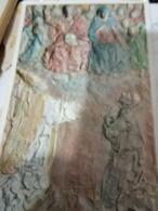 CLETO TOMBA IL PERDONO DI ASSISI TERRACOTTA  N1985  HG1486 - Sculture