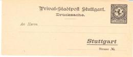 Stuttgart - Drucksache - Private Mail - Stadtpost - Horse - Briefmarken