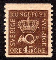Schweden 193 I WA Type I **, Postfrische 45 öre Krone/Posthorn In Type I - Sweden