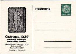 DR, PP 127 C6 01, Ungebr. 6 Pf. Privat Ganzsache Ostropa 1935 Ausstellung - Deutschland