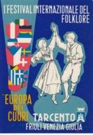 TARCENTO-UDINE-FESTIVAL INT. DEL FOLKLORE-CARTOLINA VERA FOTOGRAFIA NON VIAGGIATA AFFRANCATA E OBLITERATA-12-9-1965 - Udine
