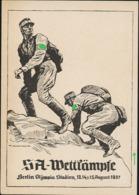 AK/CP SA Wettkämpfe  Berlin   Propaganda Nazi Ungel/uncirc.1937  Erhaltung/Cond. 2/2-  , 5 Mm Einriss Rechts  Nr. 00904 - Guerre 1939-45