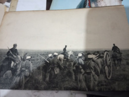 ARTIGLIERIA DA CAMPAGNA CAVALLO   E ARTIGLIERI   N1915  HG1488 - Manovre