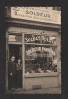 CPSM Pf . SOLDEUR PARISIEN . Boutique . à PARIS . 75 . - Autres