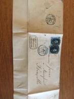 Lettre 1856 Bxl Maison Ainé + Cachet - Belgium