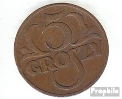 Pologne Km-no. : 10 1938 Très Déjà Bronze Très Déjà 1938 5 Groszy Couronné Adler - Pologne