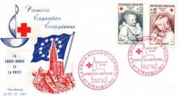 """FDC  -  11  DEC. 1965  -   Croix  Rouge  """" 1ère Exposition  Européenne """"  ( 67 -  Strasbourg ) ) - FDC"""