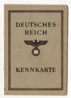 KENNKARTE AUSWEISS Carte D'identité Allemande 1946 Matériel Réutilisé RARE - 1939-45