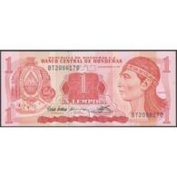 TWN - HONDURAS 71 - 1 Lempira 10.9.1992 Prefix BT - Printer: CANADIAN BANK NOTE COMPANY LIMITED UNC - Honduras