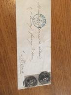 Enveloppe 1857 Bxl Pour Mons - Belgium