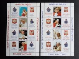 POLEN MI-NR. 4109-4116 POSTFRISCH(MINT) KLEINBOGENSATZ PASTORALREISEN VON PAPST JOHANNES PAUL II NACH POLEN 2004 - Blocs & Hojas