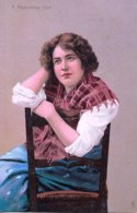 Unknown Tuck Artist  -  A Neapolitan Girl Seated On A Chair         -      2632 - 1900-1949