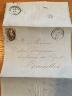 Lettre Louvain Pour Bxl 1863 - Belgium