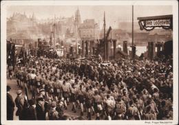 AK/CP HJ  Gebietsaufmarsch Nordmark  Hamburg    Propaganda Nazi    Ungel/uncirc.1934   Erhaltung/Cond. 2-    Nr. 00906 - Weltkrieg 1939-45