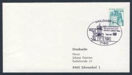 Deutschland Germany 1980 Brief Cover - Jubiläumsveranstaltung 100 Jahre Murrbahn - Bahnhof Gaildorf-West / Exhibition - Treinen