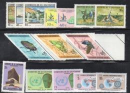 319 490 - EL SALVADOR 1970 , L'annata Completa (vedi Scan) ***  MNH  (2380A) - El Salvador