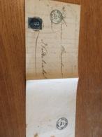 Lettre De Bxl Pour Nederbrakel 1857 Oblitération Bleue - Belgium