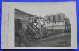 Carte Photo  De Venizel  (Aisne) Pendant La Guerre 14-18 , La Pétrolerie Et La Cloche D'alarme Contre Les Gaz RARE - France