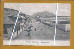 Quartel Militar De S. Vicente, Cabo Verde. Postal, Sem Selo, Circulado Para Viena, 1909.  Military Barracks Cabo Verde. - Capo Verde