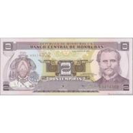 TWN - HONDURAS 80Ac - 2 Lempiras 30.8.2001 Prefix K - Printer: FRANÇOIS-CHARLES OBERTHUR UNC - Honduras