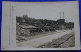 Carte Photo  De Venizel  (Aisne) Pendant La Guerre 14-18 , Le Long De La Voie Ferrée - France
