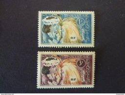 POLYNESIE FRANCAISE, Année 1964, YT N° 27 Et 28 Neufs (le 3F Un Peu Jauni Au Verso) - French Polynesia