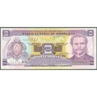 TWN - HONDURAS 80Ae - 2 Lempiras 26.8.2004 Prefix R - Printer: FRANÇOIS-CHARLES OBERTHUR UNC - Honduras