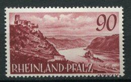15376 ALLEMAGNE N°38 * 90 Lilas-brun  Type De 1947-48 Sans Indication De Monnaie   1948-49  TB - Zone Française