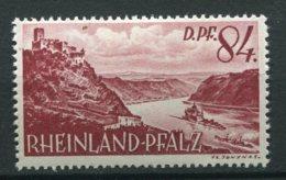15377 ALLEMAGNE N°28 * 84dp Lilas-brun  Type De 1947-48 Retouché Valeur En Dp   1948  TB - Zone Française