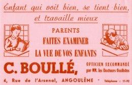BUVARD  C. BOULLE OPTICIEN ANGOULEME - Löschblätter, Heftumschläge
