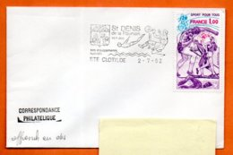 974  STE CLOTILDE DE LA REUNION SON ZOO 1982 Lettre Entière N° PP 726 - Annullamenti Meccanici (pubblicitari)