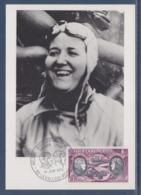 = Hélène Boucher Maryse Hilsz, Premier Jour PA47 Levallois Perret 10.6.72 Maryse Hilsz Pionnière De La Poste Aérienne - Avions